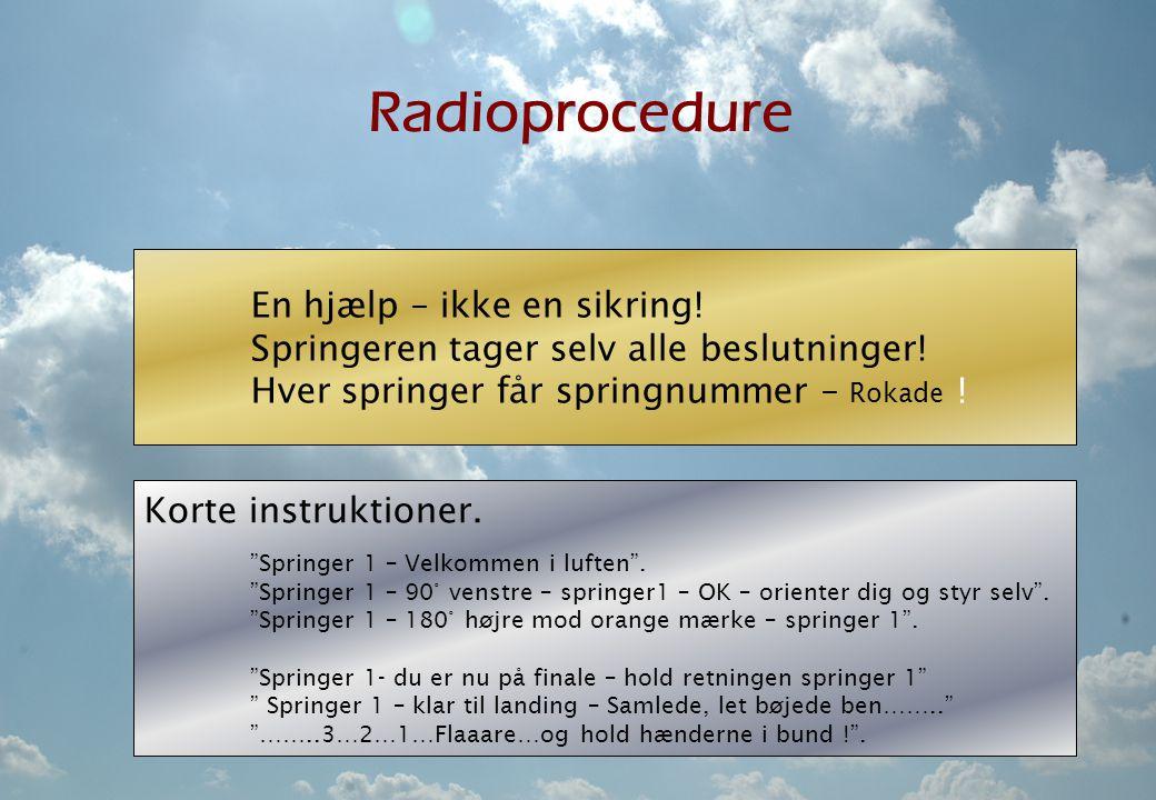 Radioprocedure En hjælp – ikke en sikring!