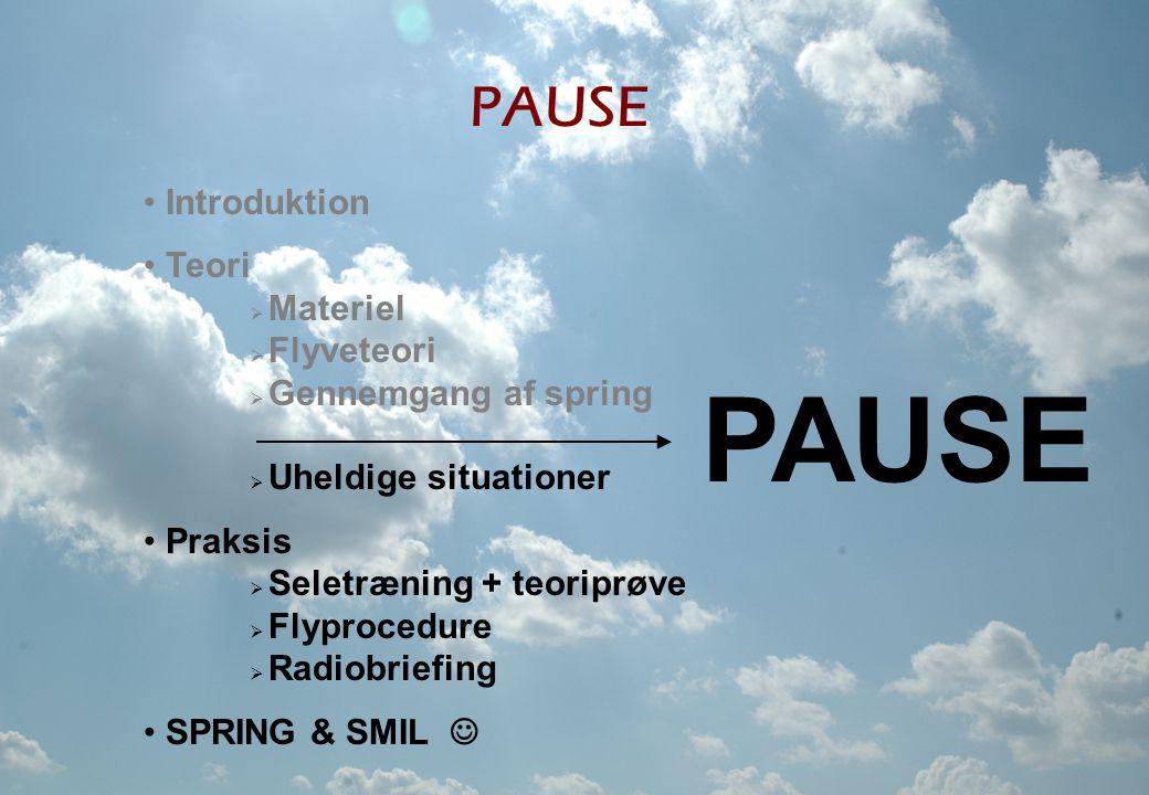 PAUSE PAUSE Introduktion Teori Materiel Flyveteori