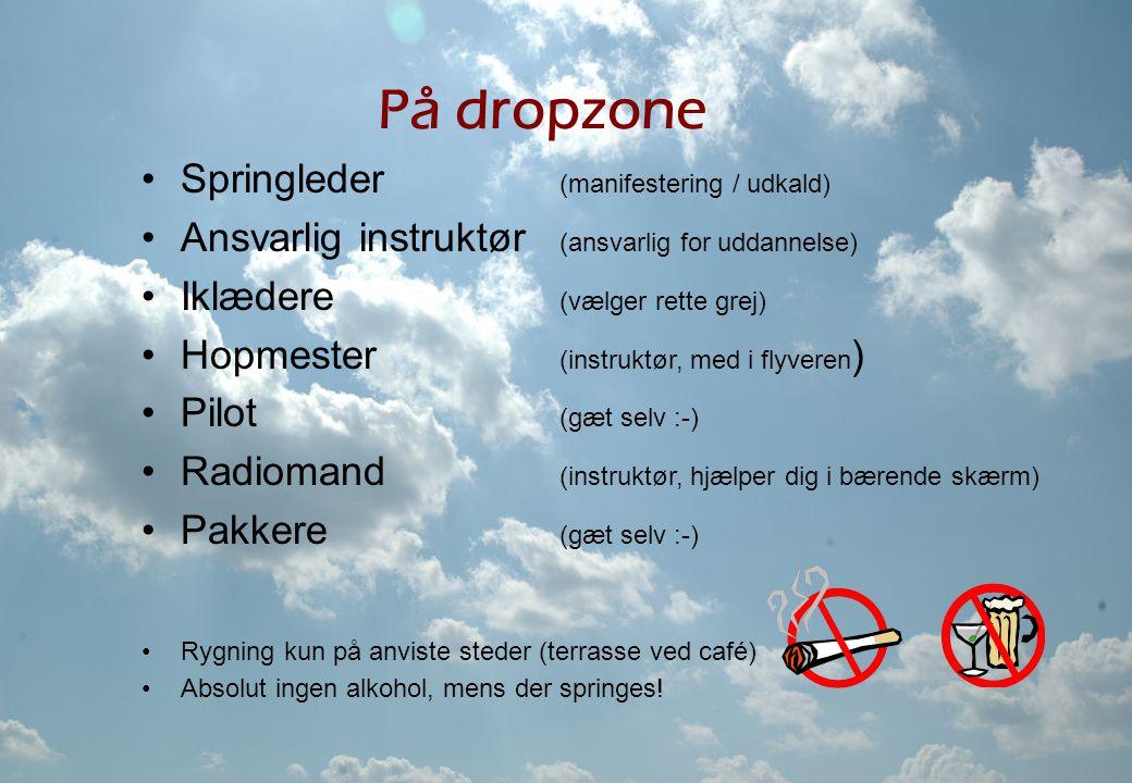 På dropzone Springleder (manifestering / udkald)