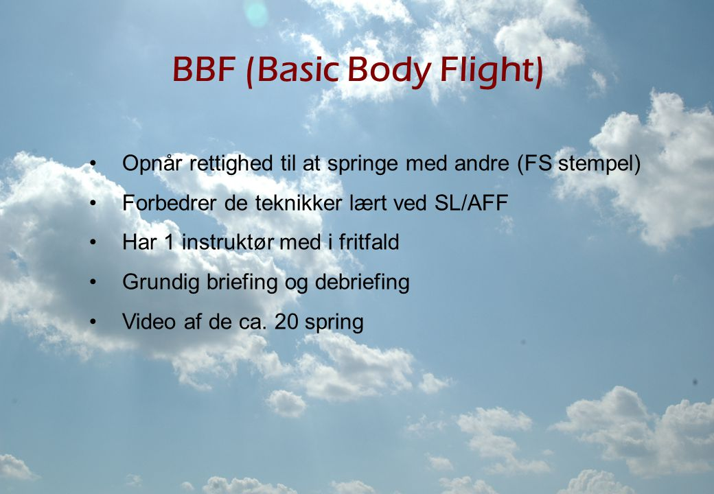 BBF (Basic Body Flight)