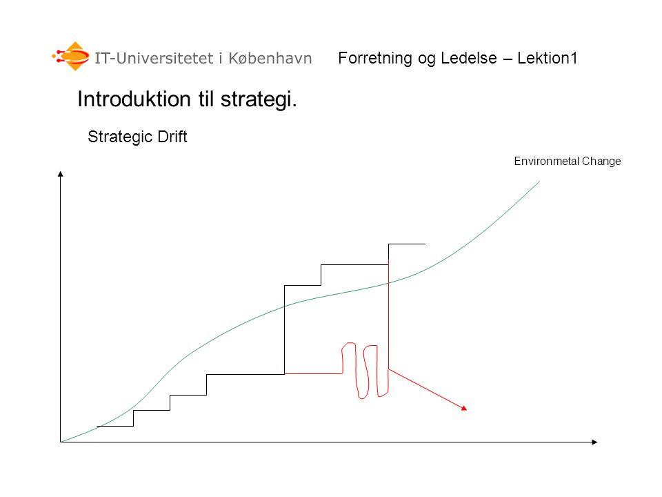 Introduktion til strategi.