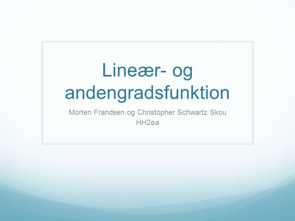 Lineær- og andengradsfunktion