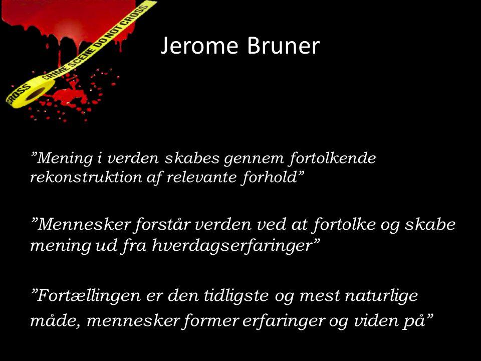 Jerome Bruner Mening i verden skabes gennem fortolkende rekonstruktion af relevante forhold