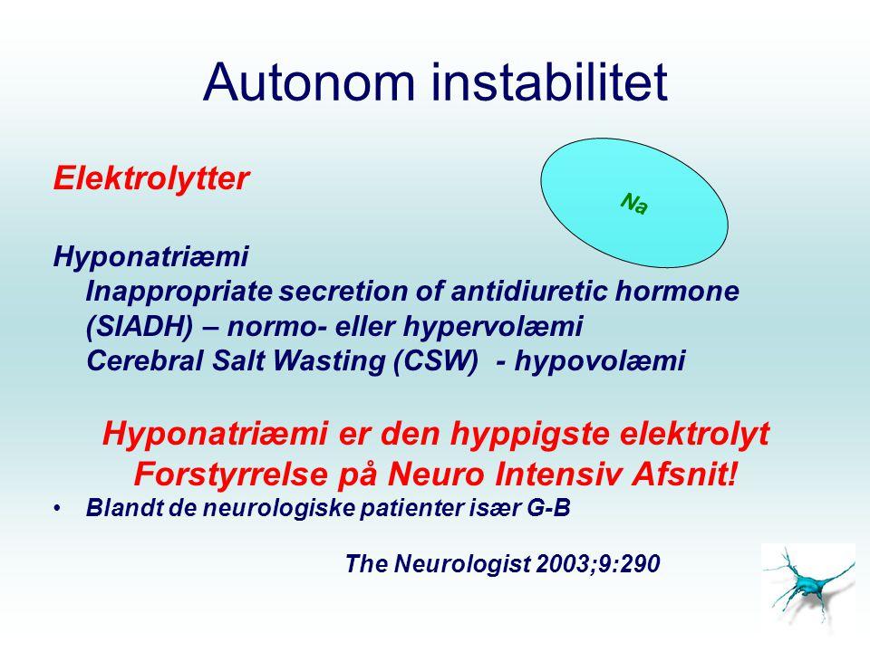 Autonom instabilitet Elektrolytter