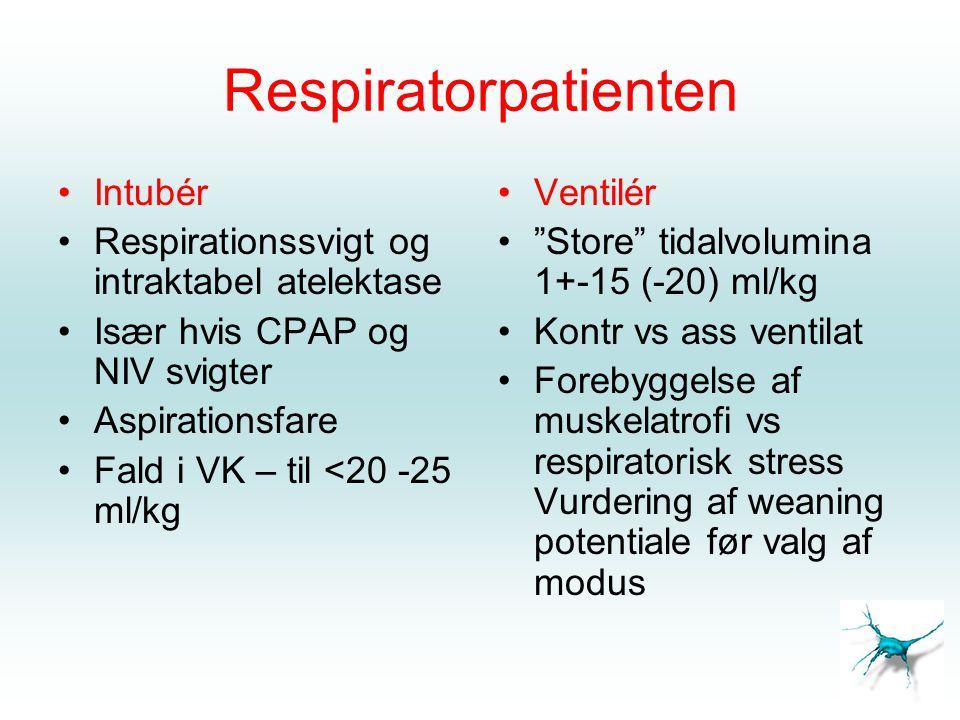 Respiratorpatienten Intubér