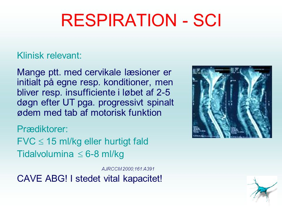 RESPIRATION - SCI Klinisk relevant: