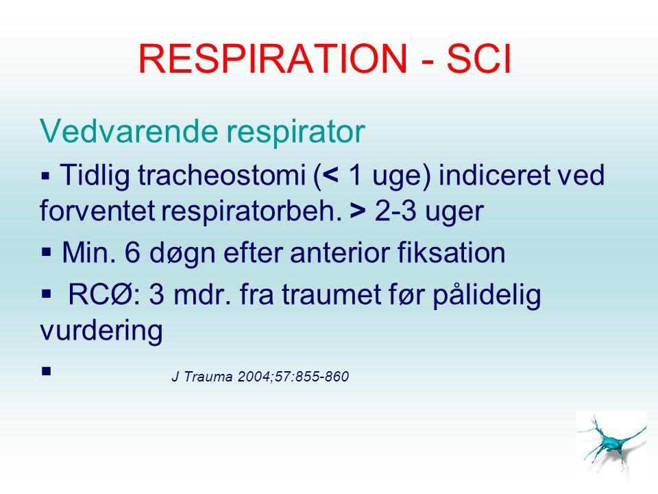 RESPIRATION - SCI Vedvarende respirator