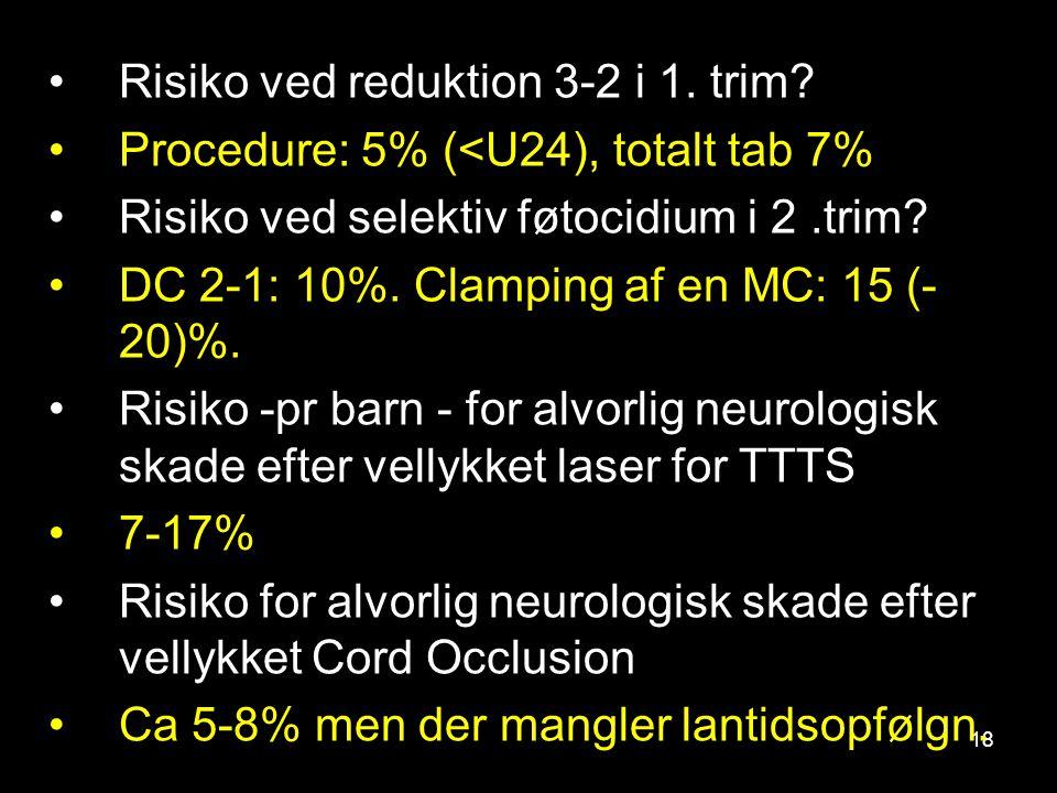 Risiko ved reduktion 3-2 i 1. trim