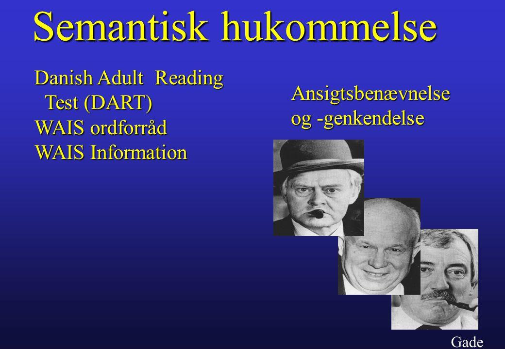 Semantisk hukommelse Danish Adult Reading Test (DART)