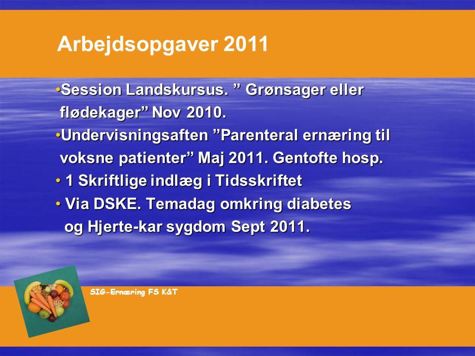 Arbejdsopgaver 2011 Session Landskursus. Grønsager eller