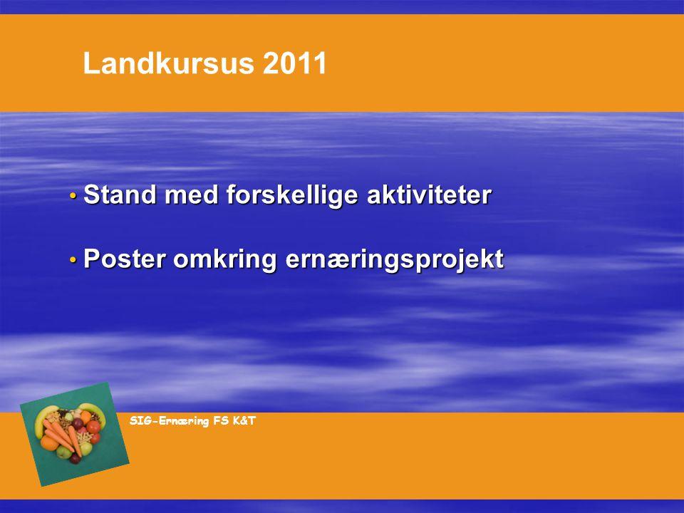 Stand med forskellige aktiviteter Poster omkring ernæringsprojekt