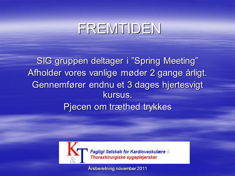 FREMTIDEN SIG gruppen deltager i Spring Meeting