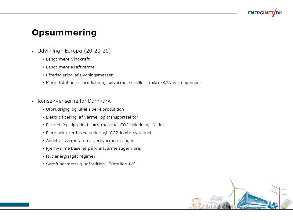 Opsummering Udvikling i Europa (20-20-20) Konsekvenserne for Danmark