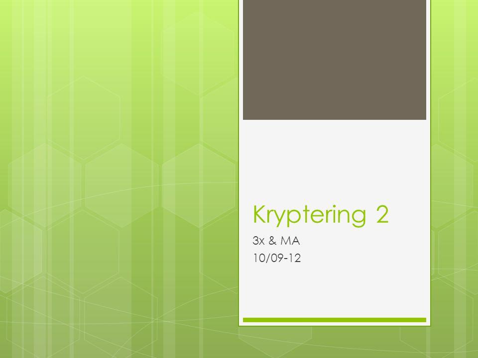 Kryptering 2 3x & MA 10/09-12