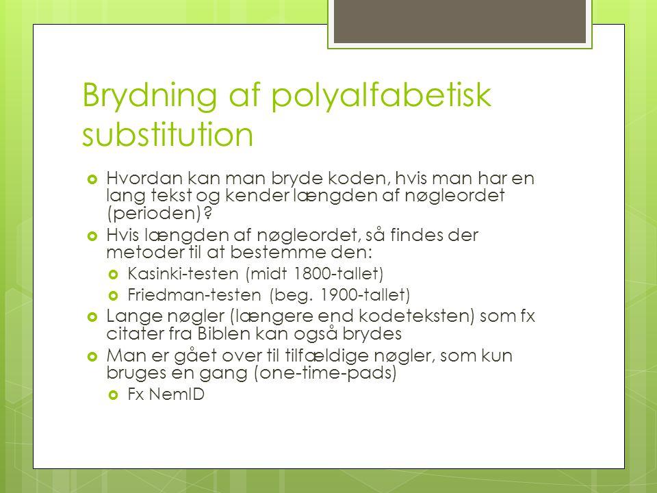 Brydning af polyalfabetisk substitution