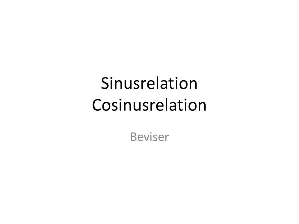 Sinusrelation Cosinusrelation