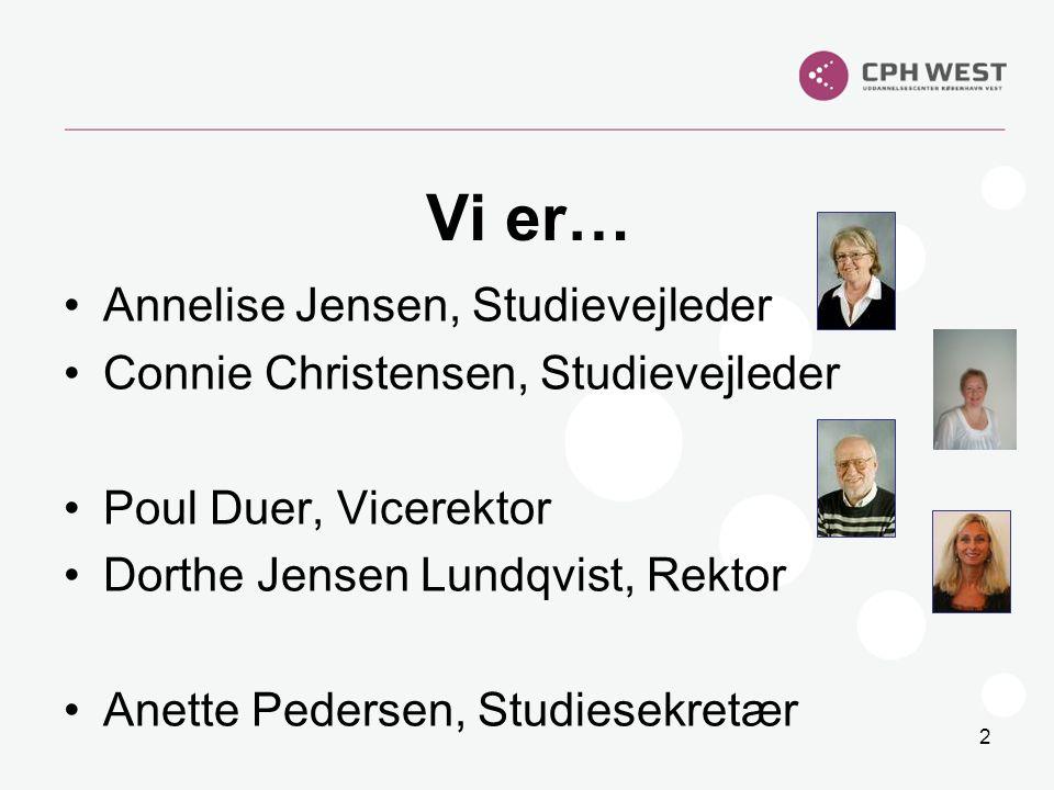 Vi er… Annelise Jensen, Studievejleder