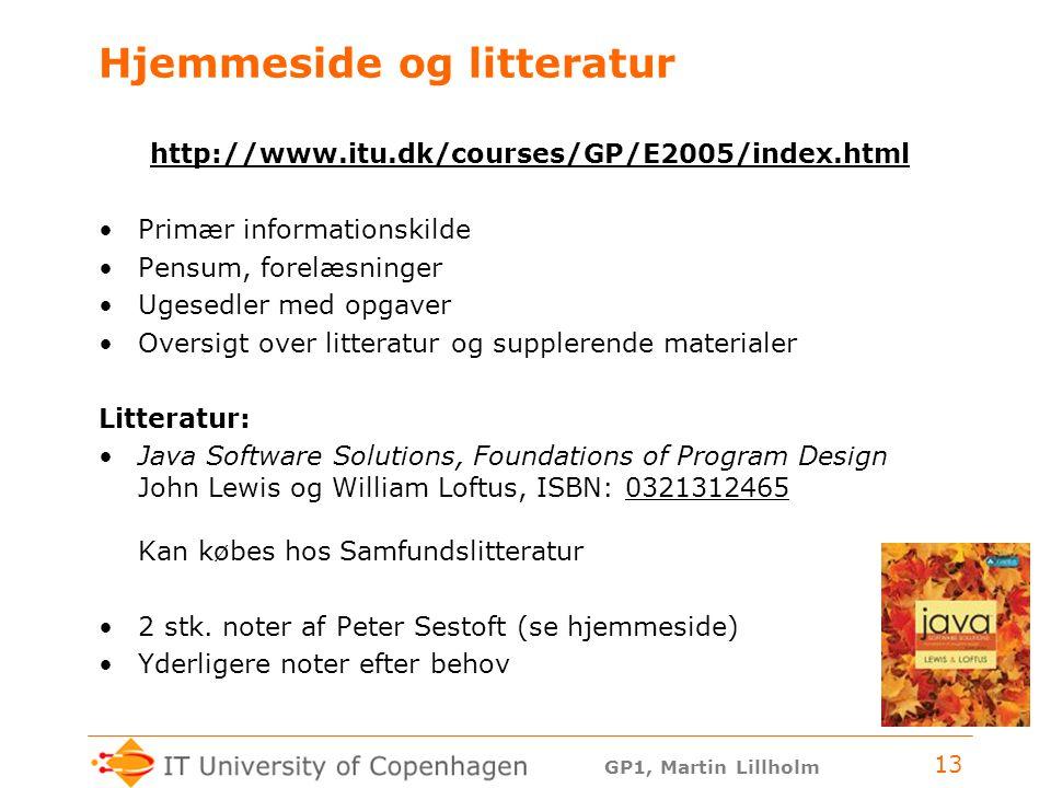 Hjemmeside og litteratur