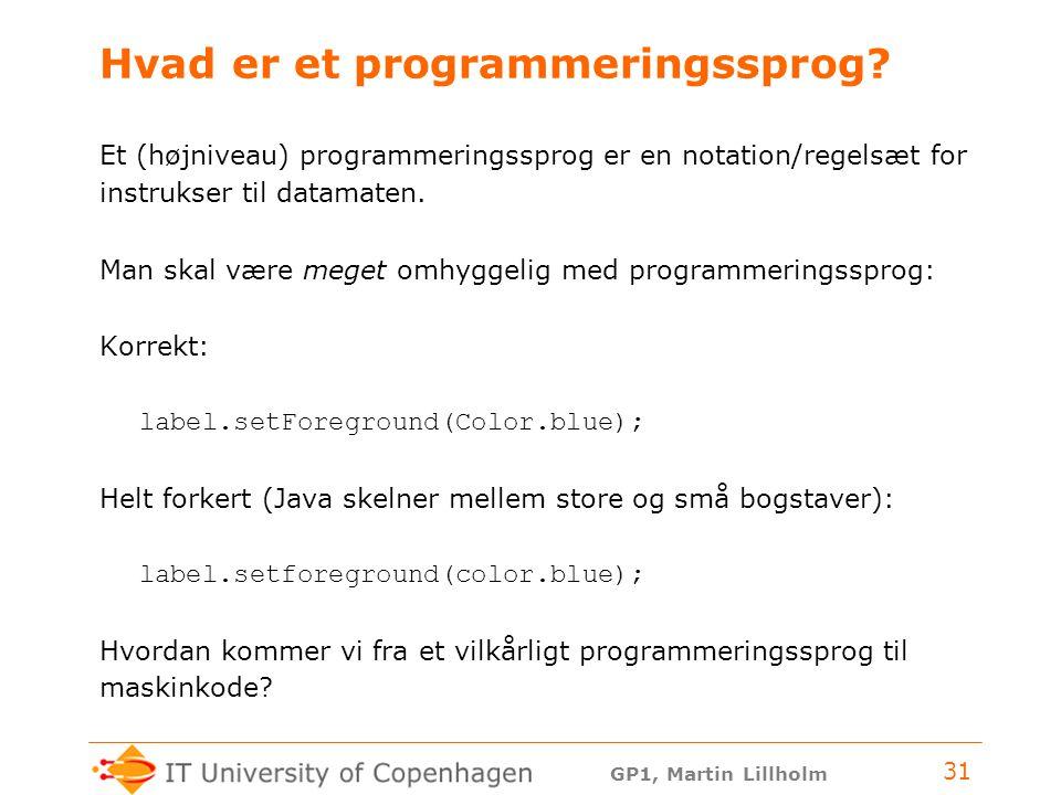 Hvad er et programmeringssprog