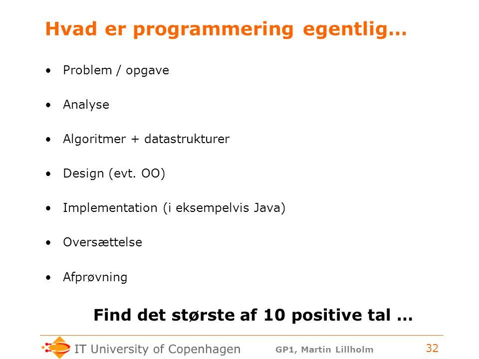 Hvad er programmering egentlig…