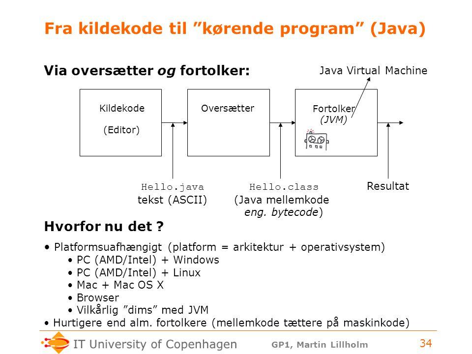 Fra kildekode til kørende program (Java)