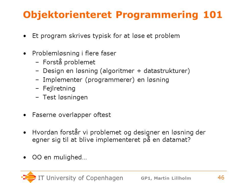 Objektorienteret Programmering 101