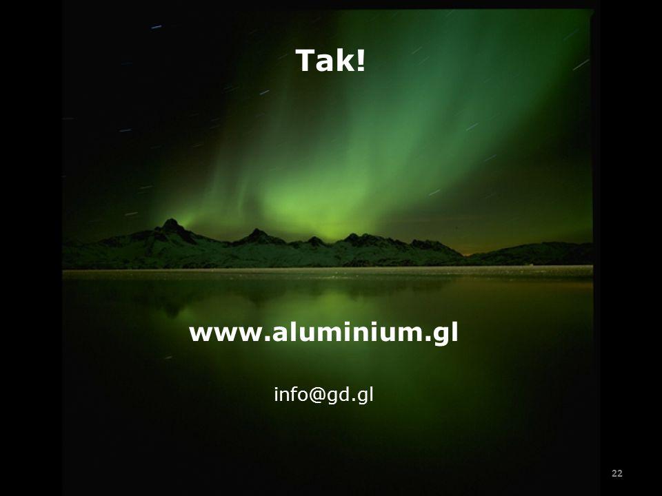 Tak! www.aluminium.gl info@gd.gl