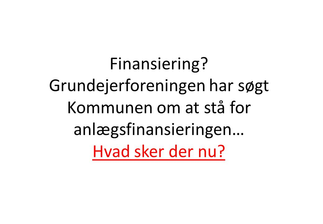 Finansiering.