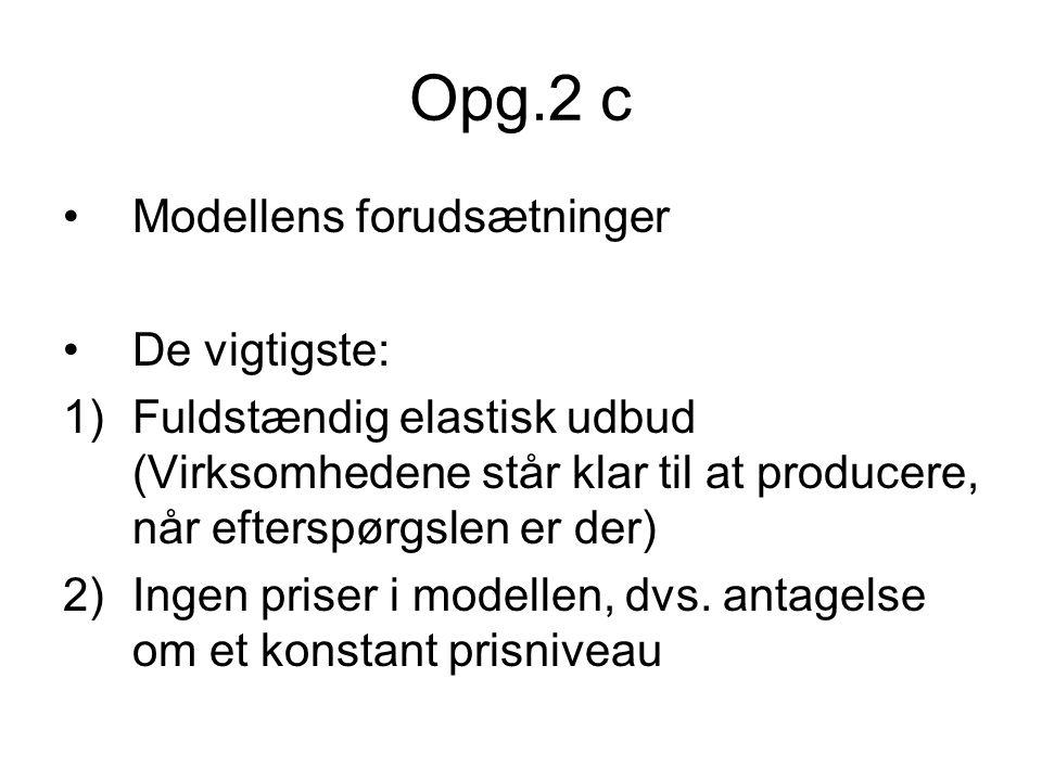 Opg.2 c Modellens forudsætninger De vigtigste:
