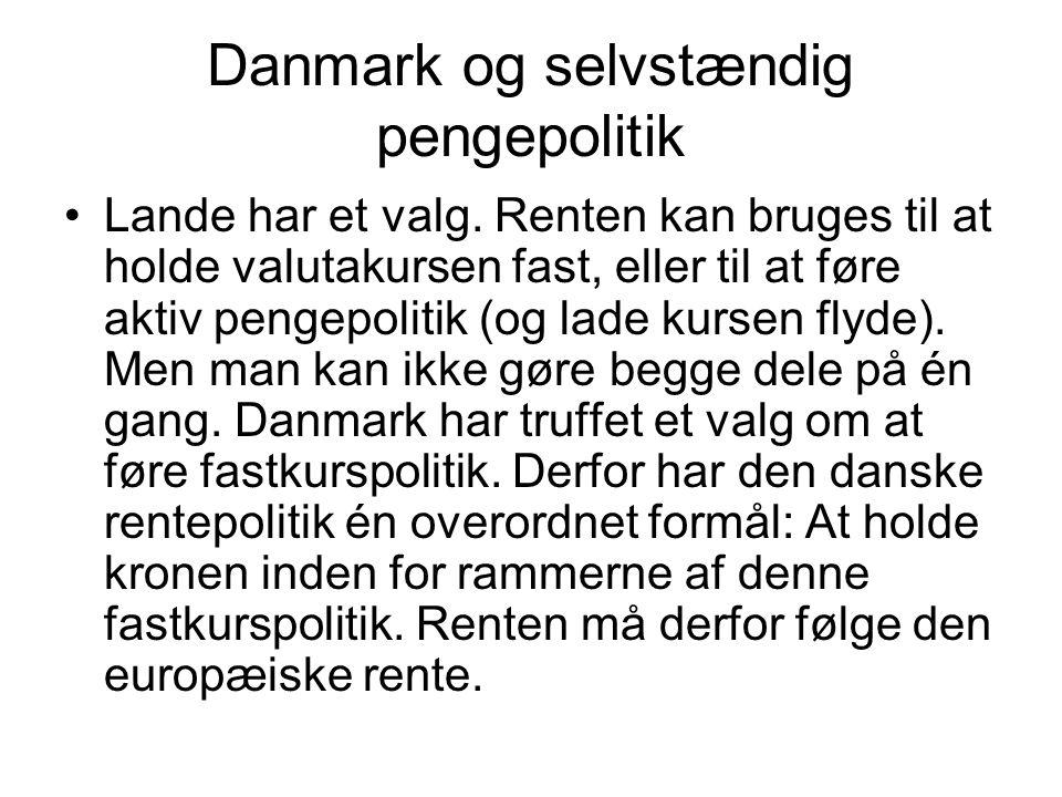 Danmark og selvstændig pengepolitik