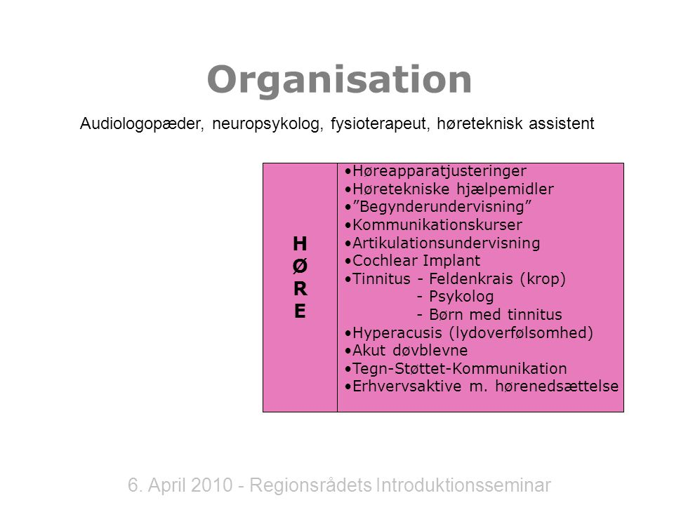 6. April 2010 - Regionsrådets Introduktionsseminar