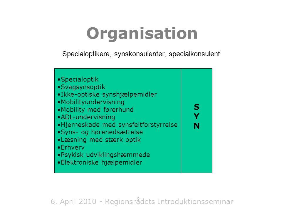 6. April 2010 - Regionsrådets Introduktionsseminar