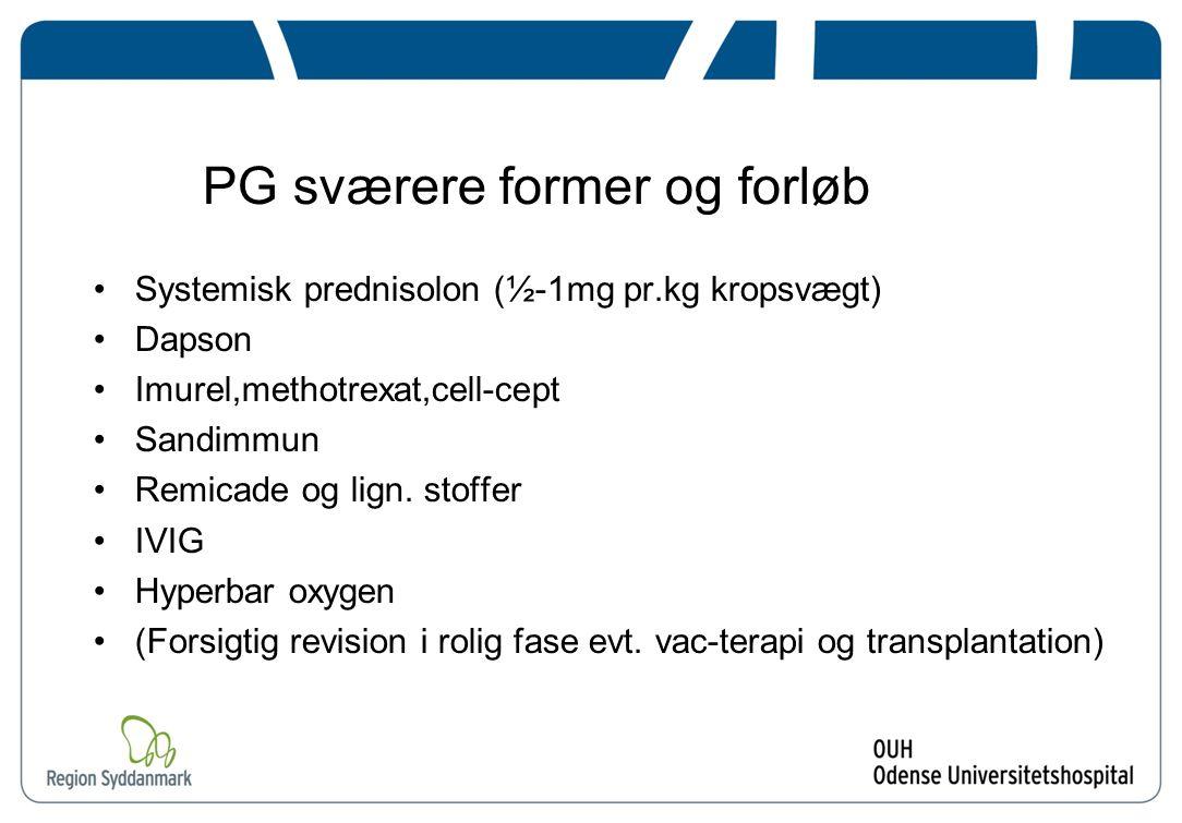 PG sværere former og forløb