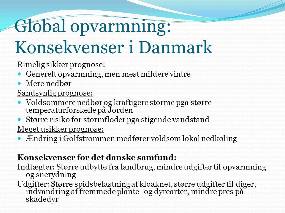 Global opvarmning: Konsekvenser i Danmark