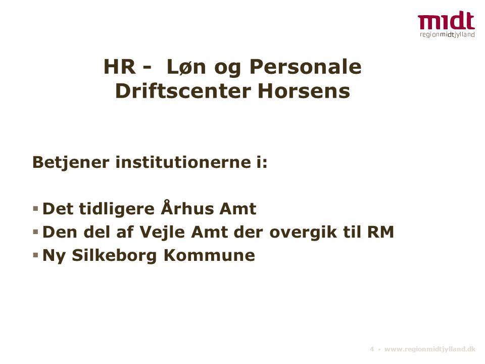 HR - Løn og Personale Driftscenter Horsens