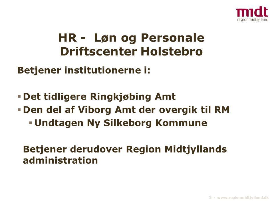 HR - Løn og Personale Driftscenter Holstebro