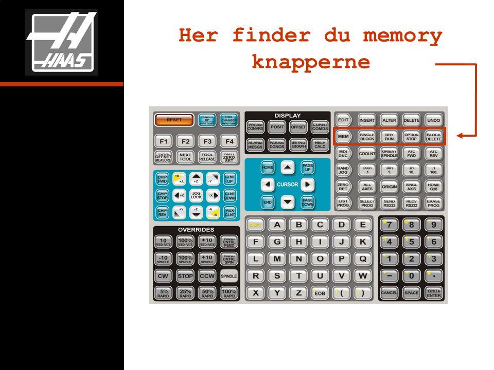 Her finder du memory knapperne