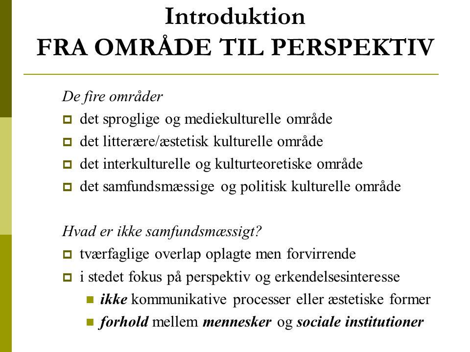 Introduktion FRA OMRÅDE TIL PERSPEKTIV