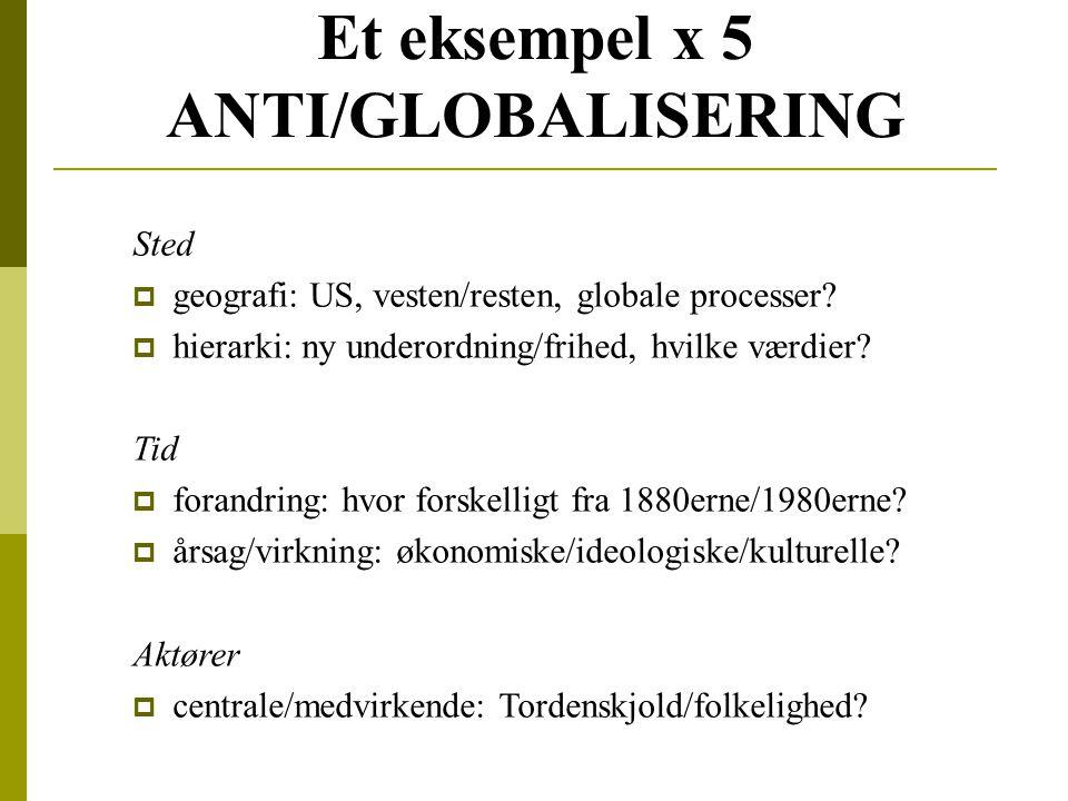 Et eksempel x 5 ANTI/GLOBALISERING