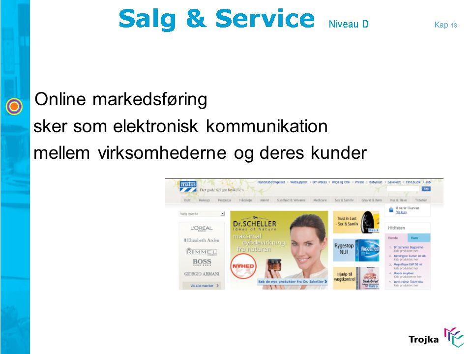 Online markedsføring sker som elektronisk kommunikation