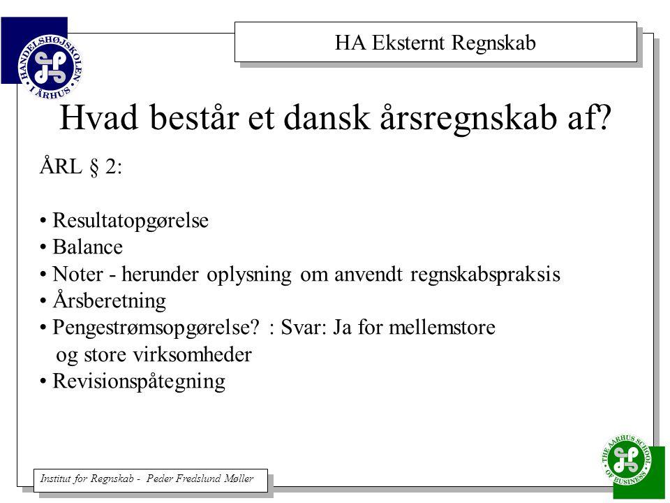 Hvad består et dansk årsregnskab af