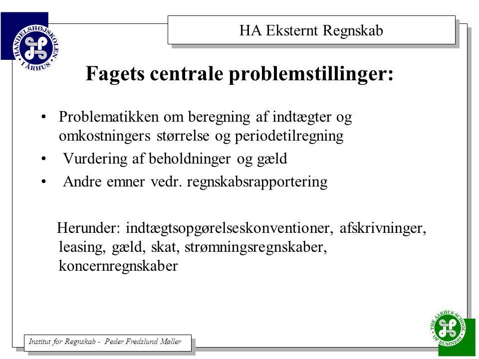 Fagets centrale problemstillinger: