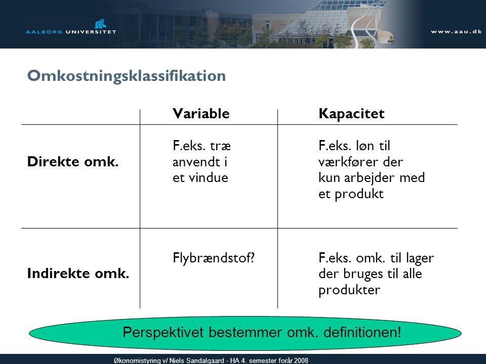 Omkostningsklassifikation