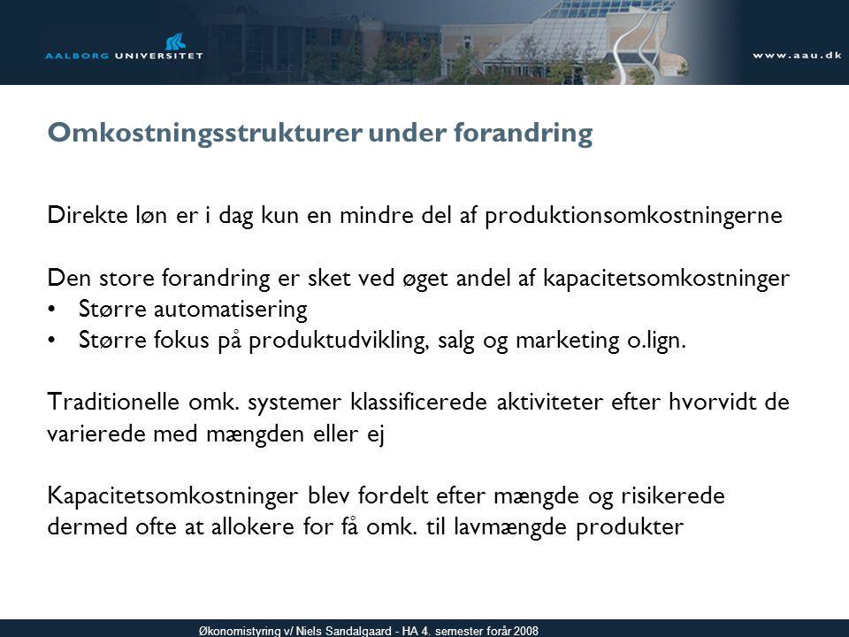 Omkostningsstrukturer under forandring