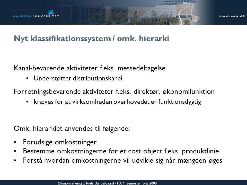 Nyt klassifikationssystem / omk. hierarki
