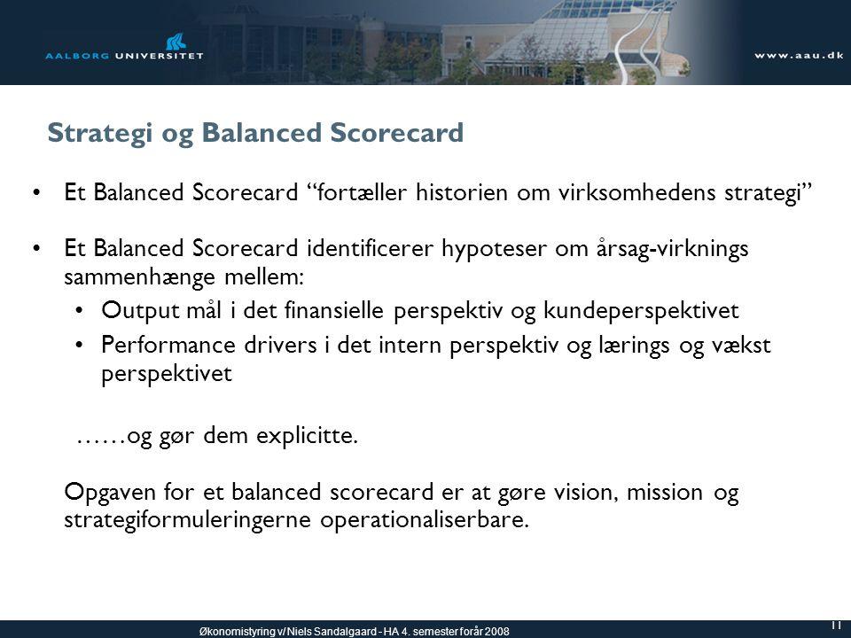 Strategi og Balanced Scorecard