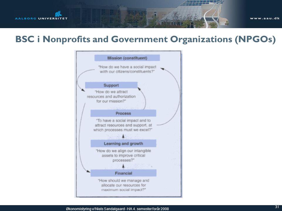 BSC i Nonprofits and Government Organizations (NPGOs)