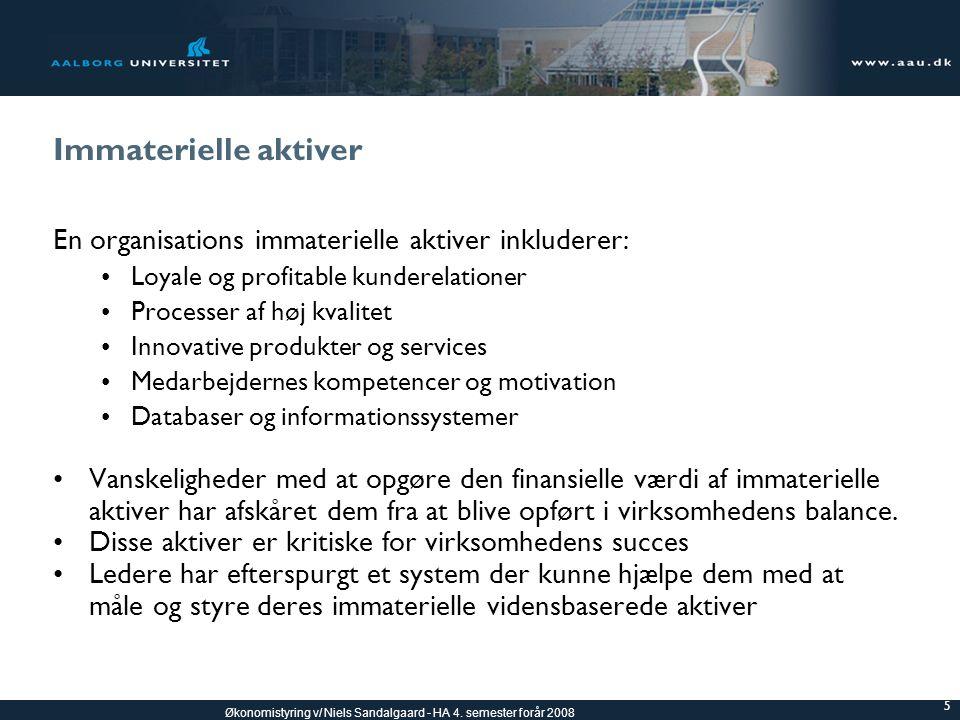 Immaterielle aktiver En organisations immaterielle aktiver inkluderer: