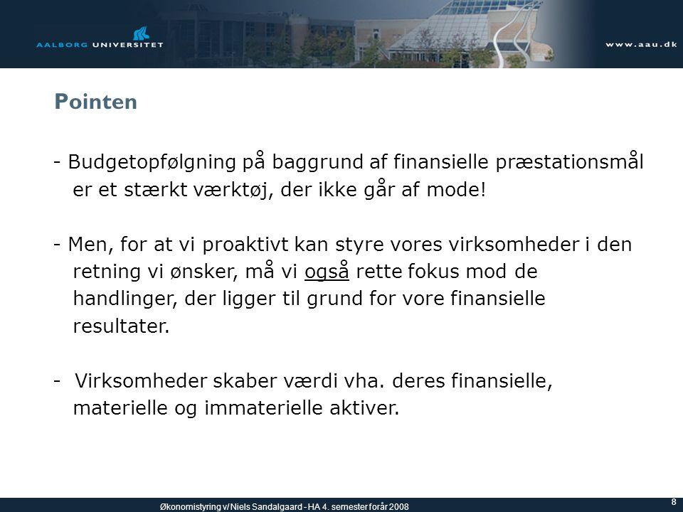 Pointen - Budgetopfølgning på baggrund af finansielle præstationsmål
