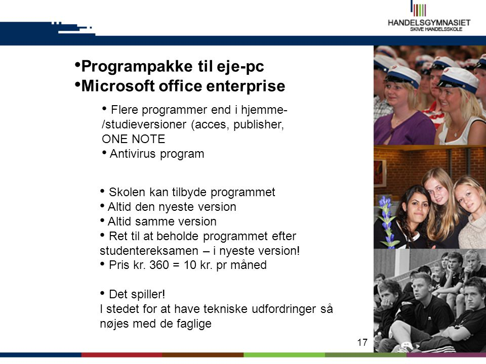Programpakke til eje-pc Microsoft office enterprise